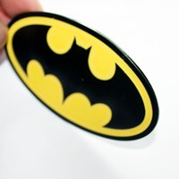 Wholesale Bmw Auto Parts - Metal Hero Batman Logo Emblem Decal Sticker Car Styling Fender Gas Tank Hood Decoration Badge Fit For Bmw Ford Auto parts