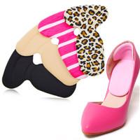 topuk kulpları toptan satış-Yumuşak Kalınlaşmış 4D Köpük Yarım Tabanlık Tabanlık Ayakkabı Geri Ekler Topuk Astar Yastık Koruyucu Ayak Bakımı Ayakkabı Pedleri Sapları