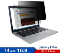 monitor de filtro de privacidad al por mayor-Pantalla de privacidad para pantalla panorámica de 14 pulgadas (relación 16: 9) Laptops Pantalla de computadora Protectores de pantalla Filtro de privacidad Envío gratuito