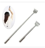 Wholesale Pen Fan - Creative Extendable Telescoping Back Scratchers Pen Pocket Clip Handy Portable Steel Body Scratch Scratcher 5 Teeth Hot Sale 1 4ny Z