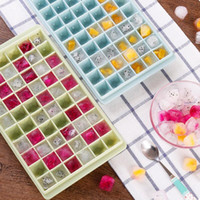 Wholesale plastic ice cubes - Creative DIY Ice Cube Mould 96 Grids Fruit Ice Cube Maker Bar Kitchen Tools Summer Party Hot NNA138