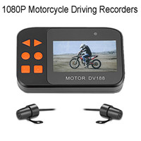 Wholesale front view camera waterproof online - 2 inch HD P Motorcycle DVR Waterproof Dash Camcorder Dual Lens Front and Rear View Camera Video Recorder