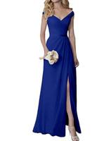 lila trägerlosen brautjungfer kleider chiffon groihandel-Chiffon- heiße Brautjungfer Kleider $ 79 nach Maße Ärmel Günstige Bridesmaids Partei-Kleid gute Qualität Lange Brautjungfernkleid