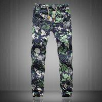 Wholesale harem trousers free pattern resale online – Slack Trousers Harem Pants Casual Hippie Drawstring Linen Mens Exotic Pattern C18110901