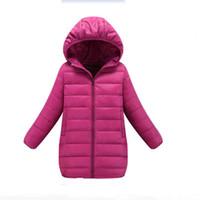 ingrosso giacca invernale gialla per bambini-Minion Jacket Kids Piumino per Boy Baby Clothes Piumino Winter Warm Baby Snowsuit Bambino Ragazza Hooded nero blu giallo