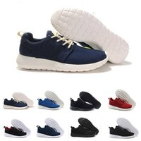 Wholesale real size women - 2018 Hot sale real quality Classical Run Running Shoes men women black low boots London Olympic Sports Sneakers Trainers size 36-45
