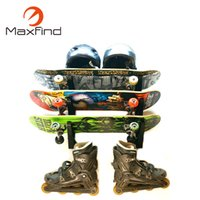 soporte de pantalla para montaje en pared al por mayor-Maxfind Skateboard Wall Mount Skateboard Wall Hanger Rack Storage Display Longboard Electric