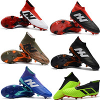 Wholesale hot aa - Cheap New Hot Predator 18+ 18.1 FG Soccer Cleats Chaussures De Football Boots Mens High Top Soccer Shoes Predator 18 Football Shoes