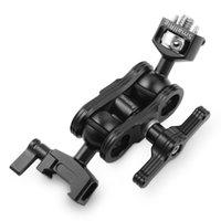 monitör için sihirli kol toptan satış-Toptan Kamera Quick Release Monitör Magic Arm ile Çift Ballheads Arri yerleştirme Pimleri ve NATO Kelepçe ile 2116