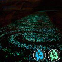 ingrosso rocce di ghiaia-100 pezzi bagliore nel buio giardino ciottoli, arredamento da giardino pietre incandescenti rocce luminose per passerella esterna carrabile acquario