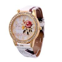 mira el precio de las chicas al por mayor-Promoción Mejor Precio Relojes Mujeres Banda Analógico Cuarzo Reloj de Pulsera de Negocios Reloj de Las Mujeres regalo de la muchacha Dorp Envío Venta Caliente
