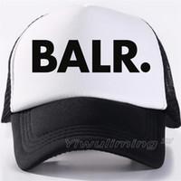 ingrosso tappi di fatturazione-BALR Berretti da baseball Trucker Mesh cap Donna Regalo per le amiche La sua alta qualità Caps Bill Hip-Hop Snapback Hat Gorras
