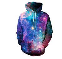 frauen galaxie hoodie großhandel-Beste Qualität 3D Hoodies Mens Womens Casual Sweatshirts Space Galaxy Wolf Löwe Drucken Hoodie Universum Sternenhimmel Grafik Pullover Trainingsanzug