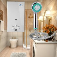Wholesale Shower Head For Wall - (Ship from USA) 10L Stainless Hot Water Heater Gas Lpg Propane Tankless Instant Boiler with shower head for Gift