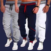 Wholesale green baggy pants for sale - New Men Fashion Jogger Dance Sportswear Baggy Harem Pants Slacks Trousers Sweatpants Black White Size M XL