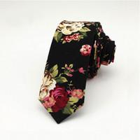 Wholesale plaid suit men vintage - Fashion Mans Floral ties Cotton Paisley Ties Gravata Corbatas Slim Suits Necktie Ties Vintage Printed Skinny Tie Necktie