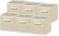 Wholesale Cloth Cubes - 6 Pack Foldable Cloth Storage Cube Basket Bins Organizer 11inch x 10.2inchx 10.2inch