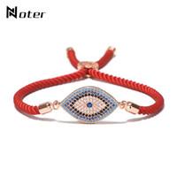 pulseira de corda vermelha sorte venda por atacado-Luxo Mau Olho Micro Pulseira De Cristal Vermelho Fio Da Corda da Turquia Braclet Étnica Para As Mulheres Meninas Mão Sorte Jóias Turca