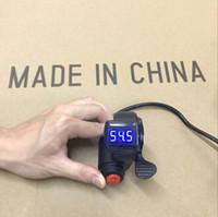 ingrosso interruttore lcd-Universale 12V / 24V / 36V / 48V / 60V / 72V EBike Thumb Throttle con interruttore a 3 velocità LCD Digital Voltage Display per bici elettrica e Scooter