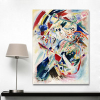 Wholesale paintings kandinsky - Abstract Wall Art Pictures For Living Room Wassily Kandinsky Home Decor Canvas Painting Panel for Edwin R Campbell No4 No Frame