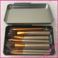 Wholesale best make up tools online - Best Quality Brand Makeup Brush Set pc Iron Box Foundation Powder Beauty Tool Make Up Brush Kit