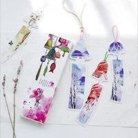 marcadores coreanos venda por atacado-30 pçs / caixa kawaii orar sinos de vento bookmarks clipe de papel para livro coreano presente engraçado escritório escola papelaria suprimentos