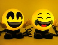 Wholesale nursery room lamps for sale - Group buy Cute Emoji LED Night Light Emoji Delicious Yellow Plastic USB Operated Lamp Nursery Room Decor For Gift
