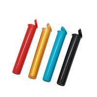 en iyi sigara kılıfları toptan satış-Sıkmak Pop Üst Şişe Doob Konileri Tüp Sigara Saklama Kutusu Hava Geçirmez Ambalaj Flakon Tüp Su Geçirmez Hap Kutusu için Rolling Kağıtları