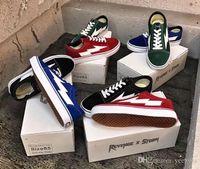 ingrosso tela di rosa blu-2018 New Revenge X Storm Old Skool Donna Uomo Low Cut Canvas Sneakers di design Skateboard Giallo Rosso Blu Bianco Nero Scarpe casual