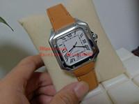 ingrosso orologi da polso in pelle bianca-Hot Sell Fashion 40 mm Galbee XL WSSA0009 WGSA0009 Quadrante bianco in acciaio inossidabile automatico cinturino in pelle cinturino Mens Watch Watche