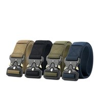 Wholesale Wholesale Casual Wear For Men - Adjustable Army Belt Zinc Alloy Buckle Nylon Tactical Belts Easy To Wear Etch Proof Waistband For Men 19hg B