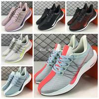 Wholesale foam shoes for men online - 2018 Zoom Pegasus Turbo Barely Grey Hot Punch Black White Running Shoes For Men Women React ZoomX Foam fly Pegasus Eur