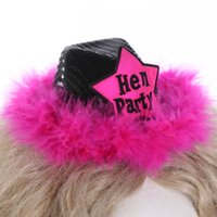 schwarze haare designs großhandel-Schwarzer Fedorahut auf Haarclip 50% weg für 3pcs kennzeichnete Entwurf für Hochzeitsbrautjungfernbraut, zum der Junggeselinnen-Abschiedsgesellschaft zu sein