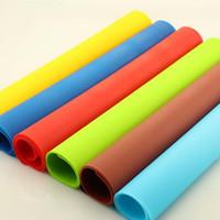 квадратный силиконовый коврик для выпечки оптовых-40x30cm силиконовые коврики выпечки лайнер силиконовые духовка мат теплоизоляция Pad посуда детские стол коврик LX3502