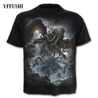 475bf3b95 YFFUSHI 2018 Male 3d T shirt Hot Sale Skull Print T shirt Summer Hip Hop  Tees Hot Sale Evbil Dragon Print Plus Size 5XL