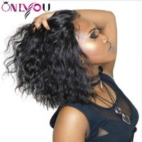 Wholesale straight wig for black online - Lace Front Wigs Human Hair Lace Wigs Pre Plucked For Black Women Straight Deep Body Wave Short Bob Wigs Brazilian Remy Virgin Hair