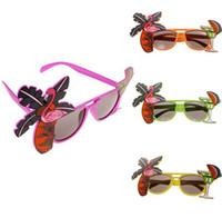 óculos fantasia vestido venda por atacado-Hawaiian Óculos de COCKTAIL Tropical Praia de cerveja Óculos De Sol Do Partido Óculos De Sol Do Abacaxi Flamingo Galinha Noite Fancy Dress eyewear favores SN299