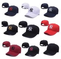 Wholesale printing ny - Hot wholesale new brand ny Long brim Baseball cap LA dodge hat classic Sun hat spring&summer casual fashion outdoor sports bone baseball cap
