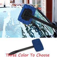 ön cam yıkama toptan satış-Pencere Temizleyici Cam Cam Mikrofiber Araba Yıkama Fırçası Toz Uzun Sap Araba Temizleme Aracı Araba Bakım Cam Havlu