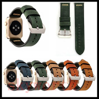 Wholesale classic leather band watches for sale - For Apple Watch Strap Bands Genuine Real Leather Straps Classic Retro Band mm Bracelets With Adapter