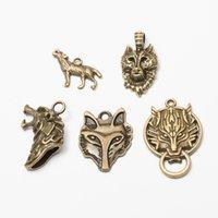wolfskopf armbänder großhandel-50pcs Wolf Head Charms Antik Bronze DIY Schmuck machen Anhänger für Mode Armband Halskette Ohrringe