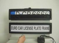 euro tabakları toptan satış-Ücretsiz kargo-Euro araç plaka çerçevesi kişilik plaka çerçevesi çıkarılabilir arabalar Perde Kapalı Plaka 530 * 135 * 25mm