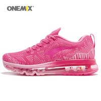 Wholesale Flats Music - ONEMIX Women Air Sports Running Shoes for Women Brand 2018 music rhythm Flywire Vamp Sneaker Breathable Mesh Athletic Outdoor Chusion Shoe 9