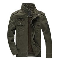Wholesale cargo air - New 2018 Casual Army Military Jacket Men Plus Size M-6XL Jaqueta Masculina Air Force One Spring & Autumn Cargo Mens Jackets Coat