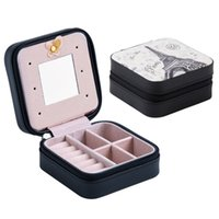 NEW Beautiful Mini Jewelry Box PU Leather Portable Travel Jewelry Organizer Display Storage Case for Rings Earrings Necklace