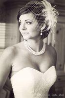 Wholesale Dot Tulle Veil - Vintage Bridal Veil One Layer With Blusher Polka Dot Tulle Veils Wedding Veil Short Bridal Veil