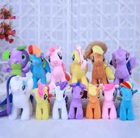 Wholesale gift horse movie - TUMI 22cm Plush Unicorn doll toys for Children my cute lovely little horse toy Plush toys Stuffed unicorn gifts