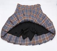 kawaii korean school uniform Skirt For Girls Plus Size Xs-xxl Plaid skirt For Women Students High Waist rock pleated skirts