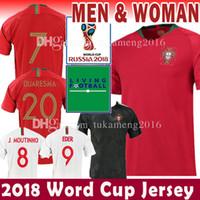 Wholesale black football uniforms - 2018 WORLD CUP soccer jersey Thailand 7 9 EDER 20 QUARESMA 17 NANI 10 J.MARIO 9 SILVA 3 PEPE 8 J.MOUTINHO football uniforms