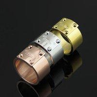 fabricantes de encanto de oro al por mayor-Fabricante al por mayor cuatro anillo del anillo de los amantes de los clavos 18 K oro rosa anillo de moda para hombres y mujeres anillos encantos joyería de moda
